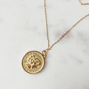 Jewelry - 🆕Aimee Sterling Silver Gold Coin Necklace